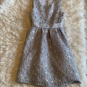 Rare editions gray girl's party dress sz 14